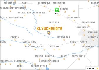 map of Klyuchevoye