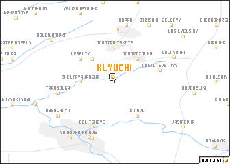 map of Klyuchi