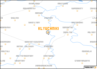 map of Klyuchniki