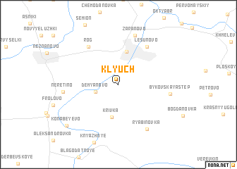 map of Klyuch
