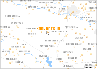 map of Knauertown