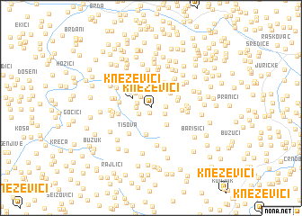 map of Kneževići