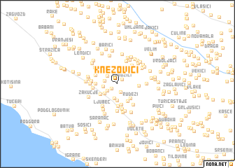 map of Knezovići