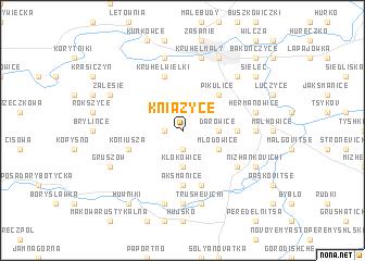 map of Kniażyce