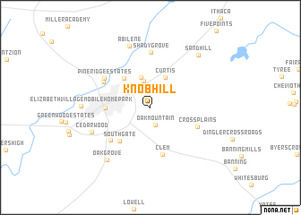 map of Knob Hill
