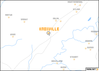 map of Knoxville