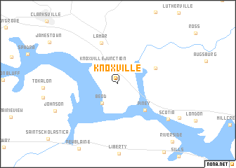 Knoxville United States USA map nonanet