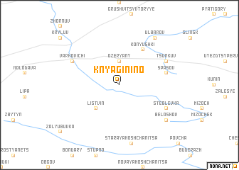 map of Knyaginino