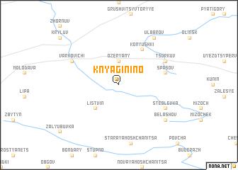 map of Knyaginino