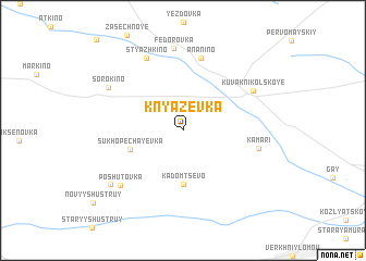 map of Knyazevka