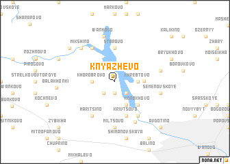 map of Knyazhëvo