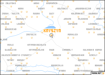 map of Knyszyn