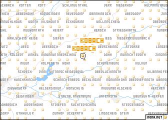 map of Köbach