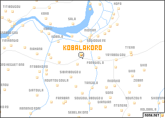 map of Kobalakoro