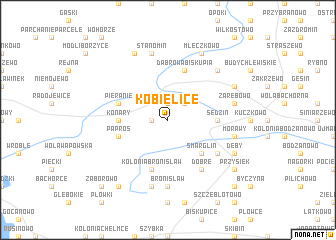 map of Kobielice