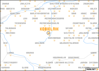 map of Kobielnik