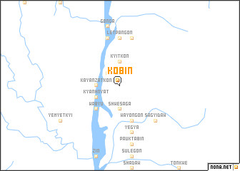 map of Kobin