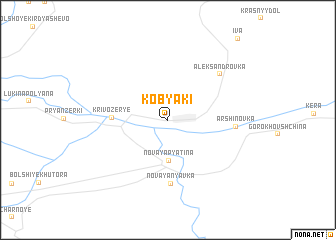 map of Kobyaki