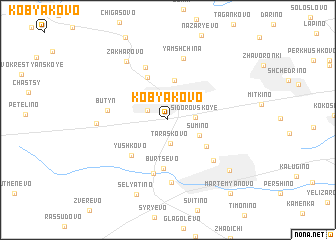 map of Kobyakovo