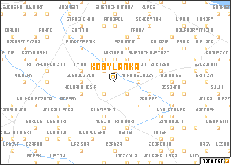 map of Kobylanka