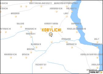 map of Kobylichi