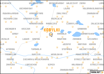 map of Kobyłki