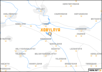 map of Kobyl'nya