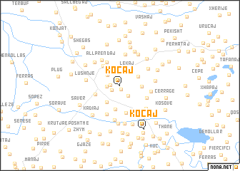 map of Koçaj