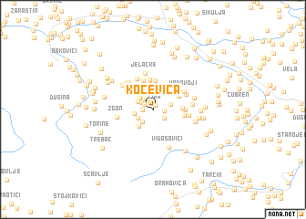 map of Kočevica