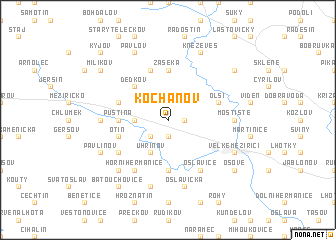 map of Kochánov