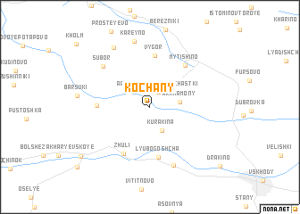 map of Kochany