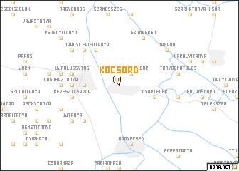 map of Kocsord