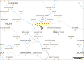 map of Kodiaran