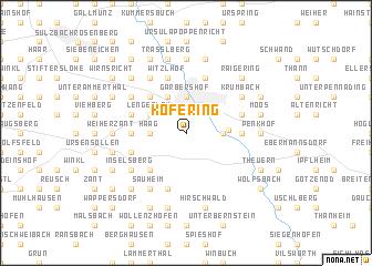 map of Köfering