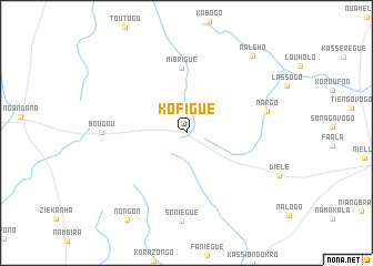 map of Kofigué