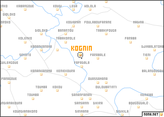 map of Kognin