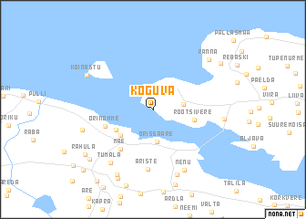 map of Koguva