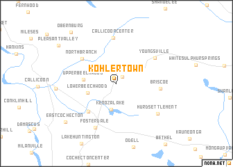 map of Kohlertown