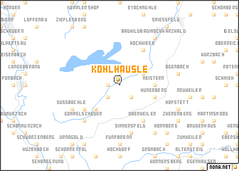 map of Kohlhäusle