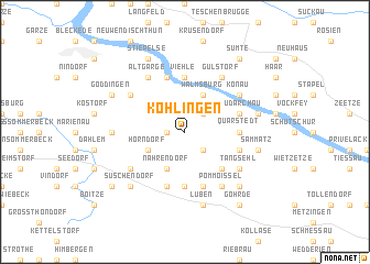 map of Köhlingen