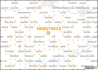 map of Kohoutovice