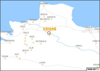 map of Koidma