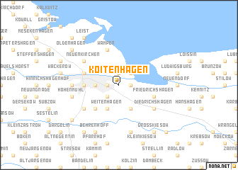 map of Koitenhagen