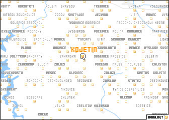 map of Kojetín