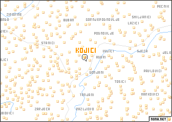 map of Kojići