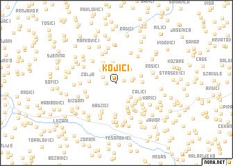 map of Kojići
