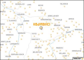 map of Kojinovići
