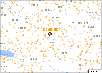 map of Kojšino