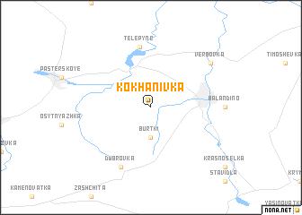 map of Kokhanivka