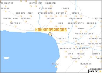 map of Kókkinos Pírgos